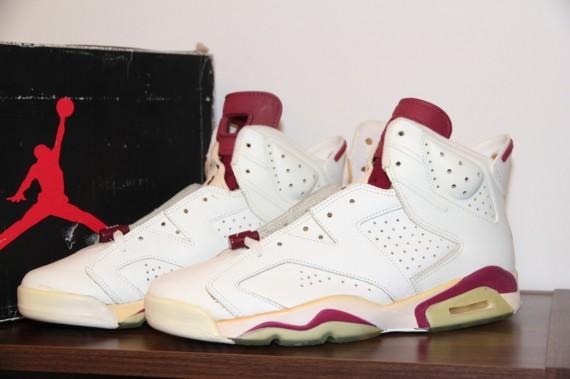 premium selection 3e3f3 04961 Air Jordan VI: White Maroon Original - Air Jordans, Release ...
