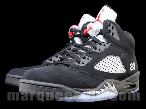 low priced e7ec1 2bc26 Air Jordan V: Black/Metallic Silver - Another Look - Air ...