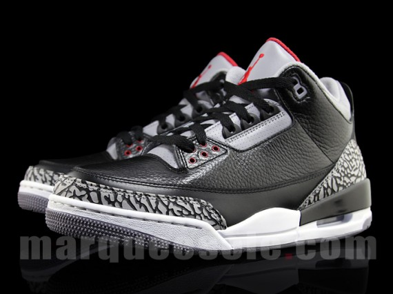 big sale dc98a 4e0b7 Air Jordan III Black Cement Archives - Air Jordans, Release ...