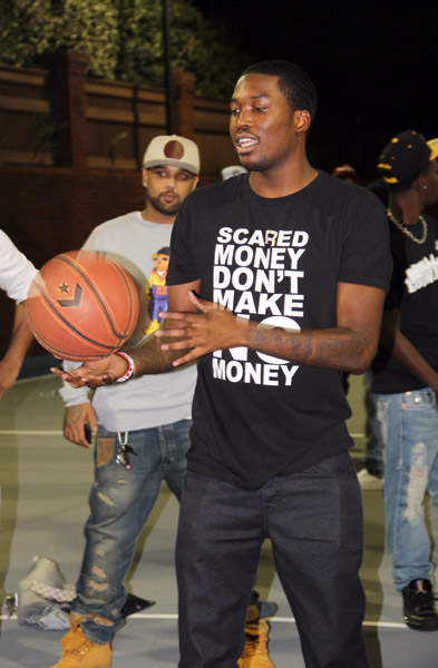 the best attitude c647f e0177 Meek Mill Wears Air Jordan III Black Cement in