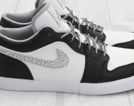 Air Jordan Retro V.1: Black - Wolf Grey - White