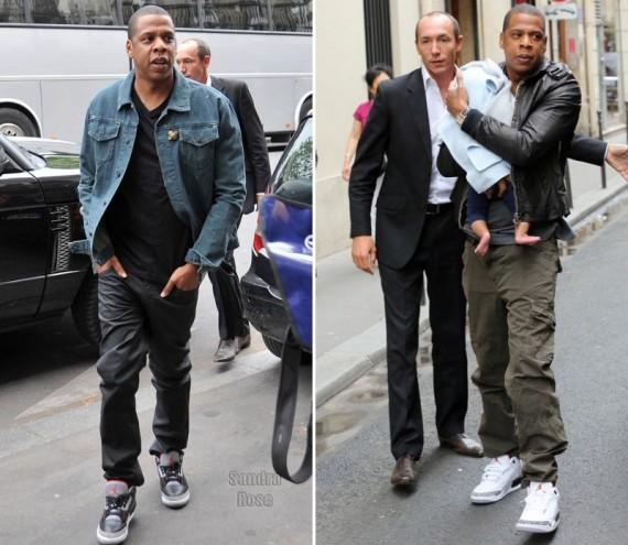 best sneakers 968ab f163d Jay-Z Wears Air Jordan III's in Paris - Air Jordans, Release ...