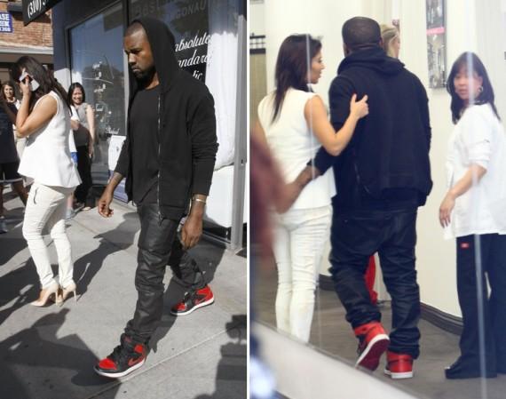 Kanye West Wearing Air Jordan 1 \