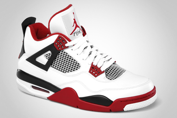 Air Jordan IV – White – Varsity Red