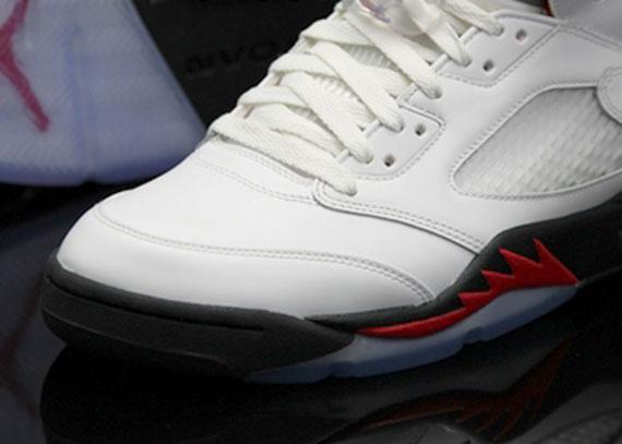 cheap for discount 31d75 ff204 Air Jordan V: White - Black - Fire Red - Air Jordans ...