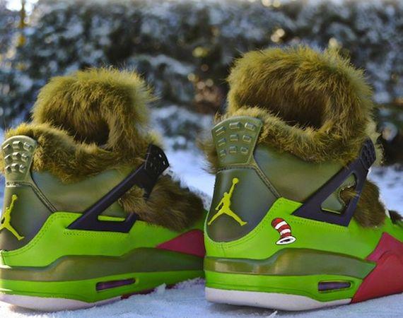 "Air Jordan IV: ""Grinch"" Customs by"
