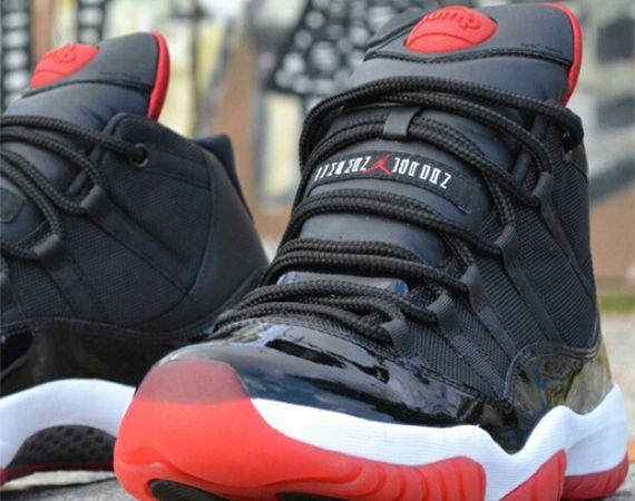 """Air Jordan XI: """"Bred Pump"""" Customs by"""