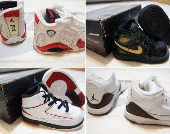 babies wearing jordans
