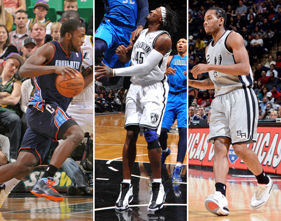 detailed look c5bd8 4b9c4 The perks of being a Jordan Brand athlete were on display as always this  weekend in the NBA. Gerald Wallace of the Brooklyn Nets showed off an early  pair in ...
