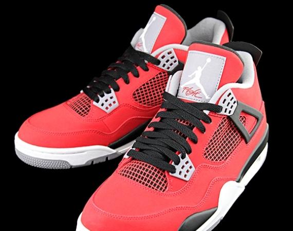 on sale 22d1e 46952 Air Jordan 4 Retro  Fire Red - White - Black - Cement Grey - Air Jordans,  Release Dates   More   JordansDaily.com