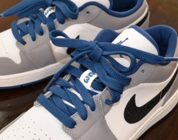 Air Jordan 1 Low White Blue Grey Air Jordans Release Dates