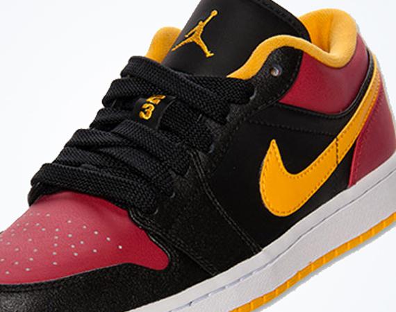 Air Jordan 1 Low: Black – Red – Yellow