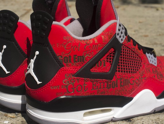 "Air Jordan IV: ""Got Em"" Laser Custom by Absolelute"