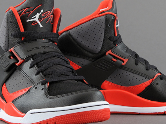 Jordan Flight 45 High: Black – Gym Red – Dark Grey