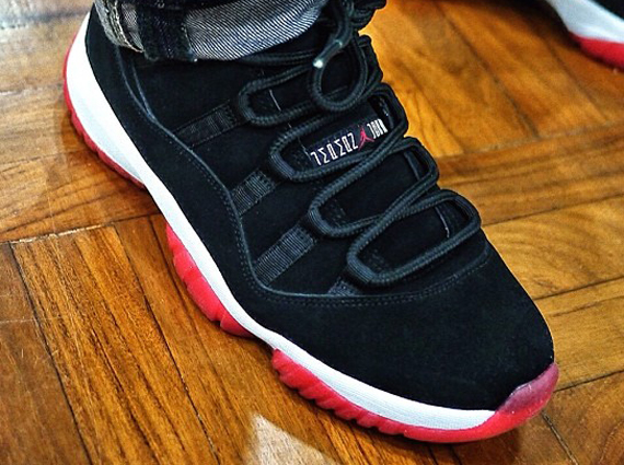 """22b82182ab02f The Air Jordan 11 """"Bred"""" is one of the timeless classics in the Jordan  Brand arsenal and is known just as much for its materials – the patent  leather strip ..."""