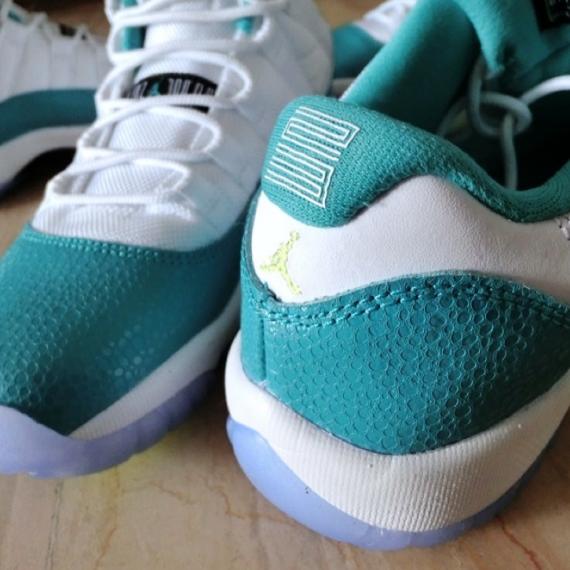 sports shoes ec1d3 1d655 Air Jordan 11 Low GS: Aqua - Volt - Air Jordans, Release ...