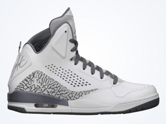 Jordan SC 3 Premium: White Cool Grey Air Jordans