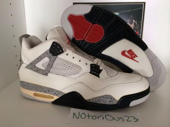 best service a8ed3 8618b Air Jordan IV 'White/Cement' Archives - Air Jordans, Release ...