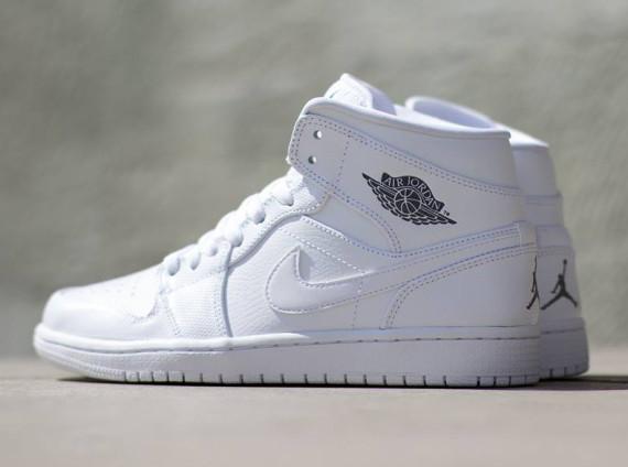 huge selection of df326 8a100 Air Jordan 1 Mid: White - Cool Grey - White - Air Jordans ...