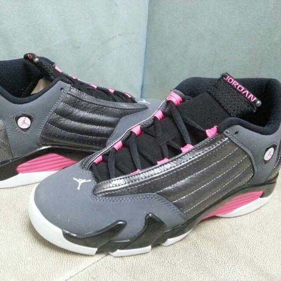 100% authentic 41108 f5964 Air Jordan 14 GS: Grey - Black - Pink - Air Jordans, Release ...