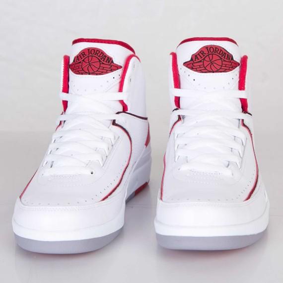 free shipping c1f90 db735 Air Jordan 2 Retro: White - Varsity Red - Release Reminder ...