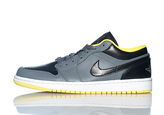 Air Jordan 1 Low: Cool Grey - Black - Vibrant Yellow