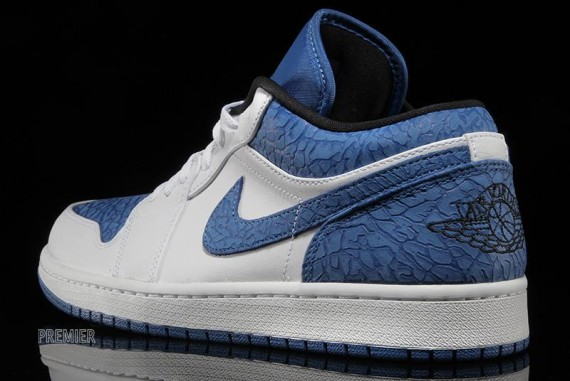Air Jordan 1 Low: White - Sport Blue - Black