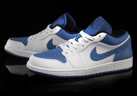 Air Jordan 1 Low White Sport Blue Black Air Jordans