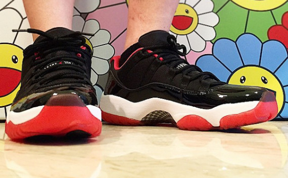 Air Jordan 11 Low Bred On Feet Air Jordans Release Dates