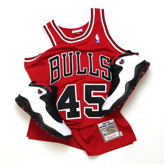 nouveaux styles 2b141 9da43 Michael Jordan's #45 Chicago Bulls Jersey by Mitchell & Ness ...
