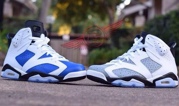 finest selection 98030 2e463 ... sneakheat · air-jordan-6-custom-blue-carmine-cement-1