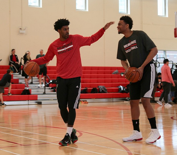 Jabari Parker Practices In Jordan Melo M10 - Air Jordans ... Jabari Parker Shoes