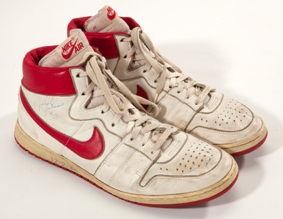 Michael Jordan's Game Worn Nike Air Ship Sneakers Sell For $71,554