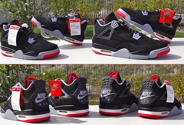 The Daily Jordan: Air Jordan 4 Retro Black/Cement Grey - 1999 ...