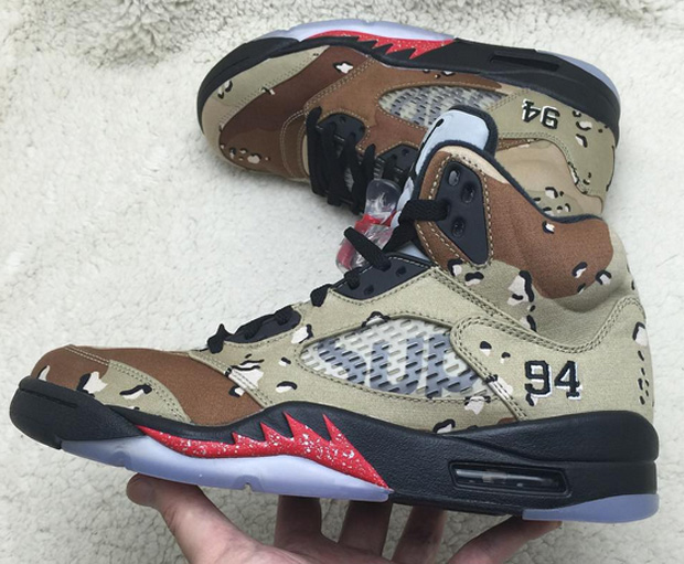 4f64f56dbfbdb With more and more photos of the Supreme x Air Jordan 5 circulating, Air  Jordan fans continue to get a better handle on the the upcoming collab  series.