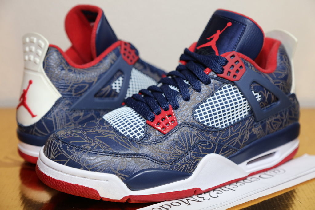 reputable site 67ace b32b4 Check Out Carmelo Anthony's Air Jordan 4 Laser