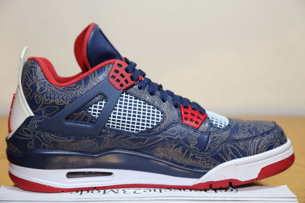 reputable site cea5a 948a9 Check Out Carmelo Anthony's Air Jordan 4 Laser