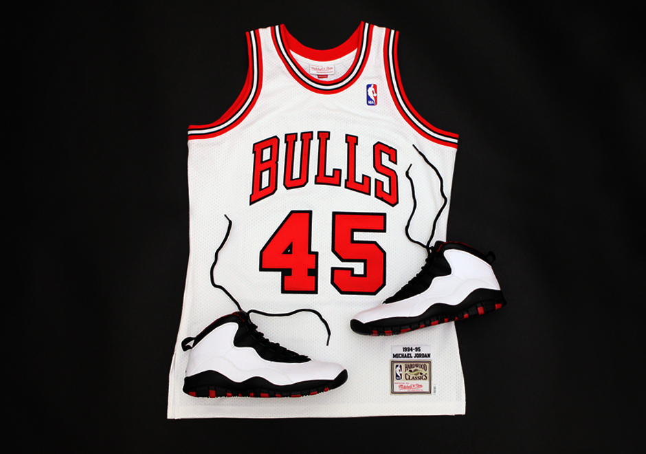 3f9aca5c13b29 Mitchell & Ness continues its commemorative Michael Jordan jersey series  with the most famous number-change in sports history. The brand has  re-created ...