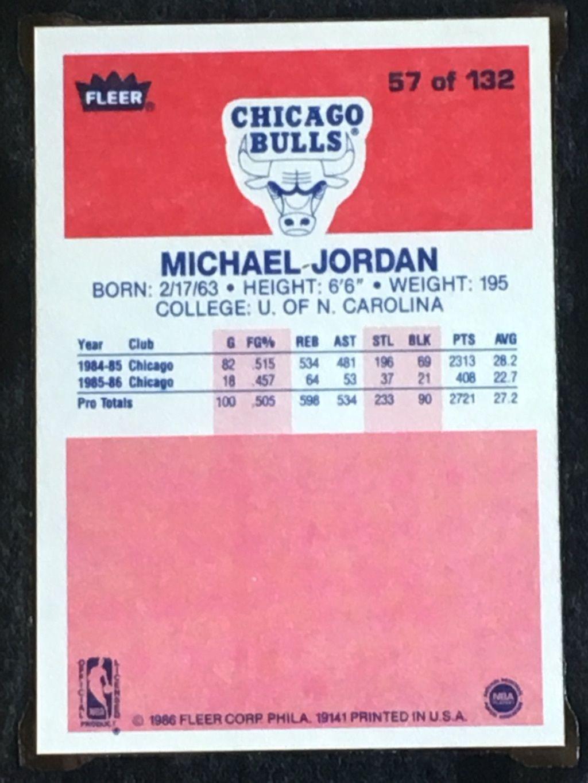 Vintage Gear Fleer Michael Jordan Rookie Card Air Jordans