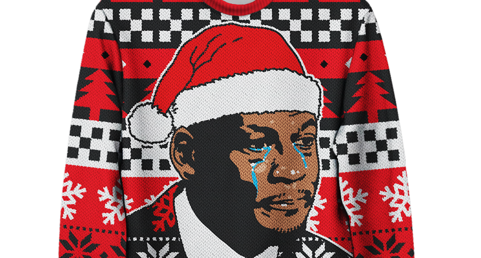 The Crying MJ Christmas Sweater Is Real And It's Available Now