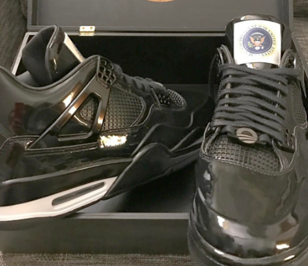 New Look At President Obama's Farewell Air Jordan 4s