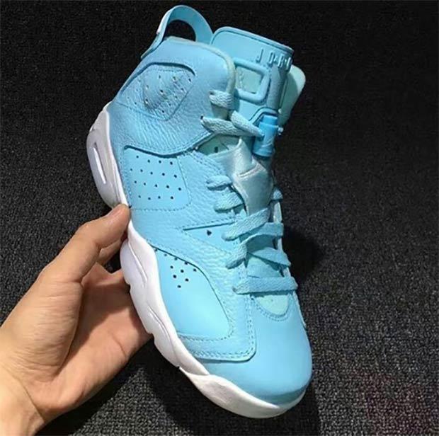 2017 Air Jordan 6 GS Still Blue Shoes