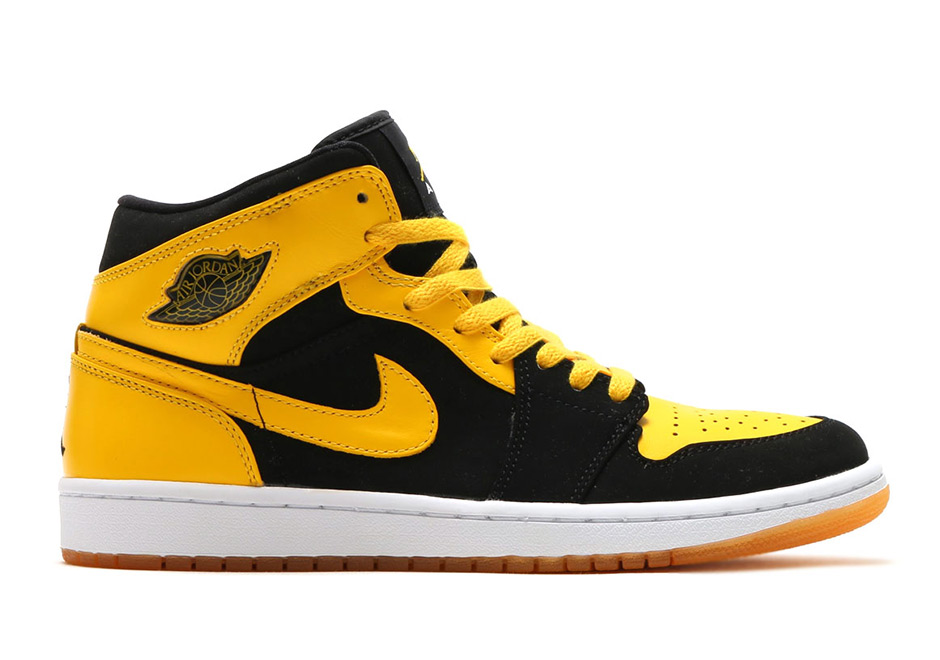 air jordan 1 mid yellow