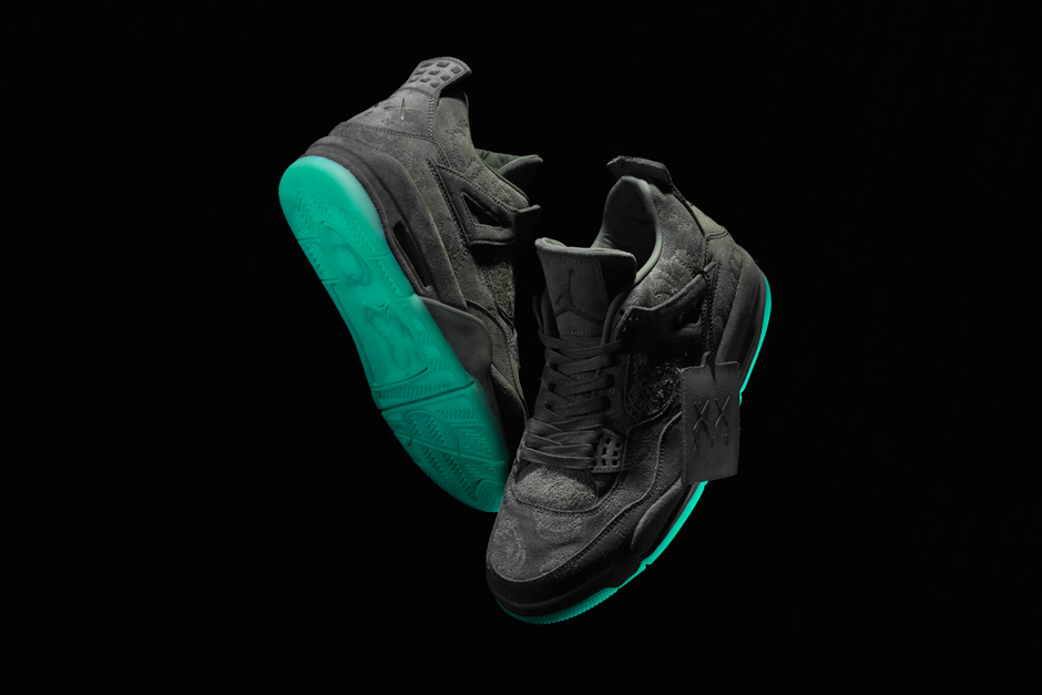 check out f75dc 8008b Kaws x Air Jordan 4 And Its Green Glow Sole Arrive This ...