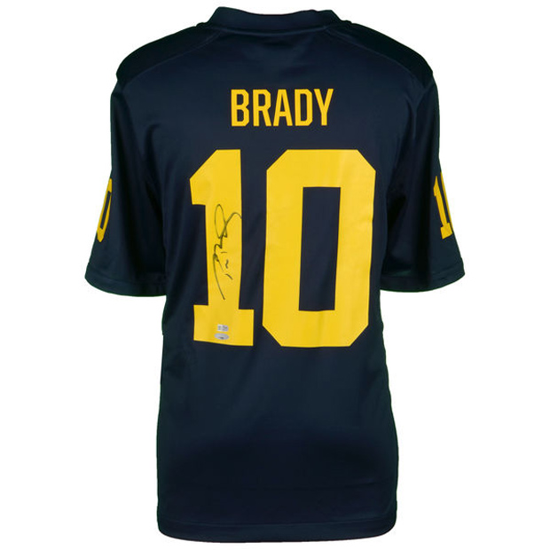 The Tom Brady Signed Michigan Jordan Football Jersey Is Available ...