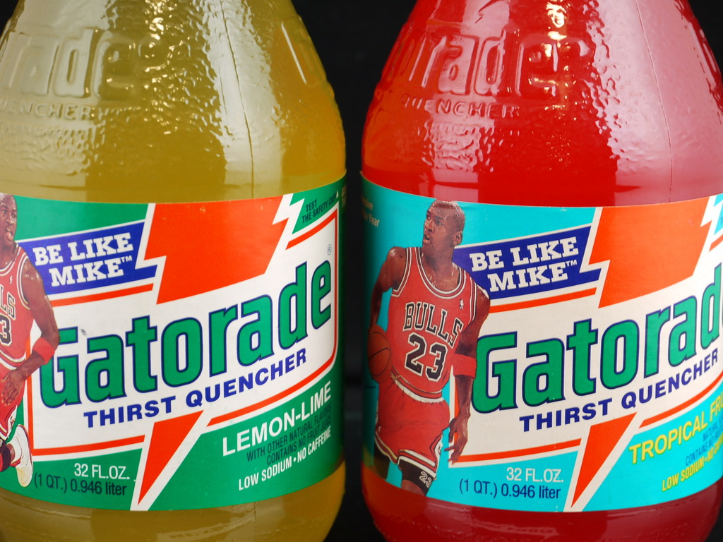 Vintage Gear: Unopened Michael Jordan Gatorade Glass Bottles